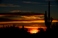 Sunset at Superstitious Mountains